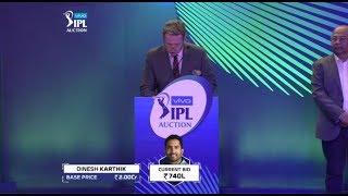 VIVO IPL Auction 2018 Full Highlights   Malinga, Guptill, Styen Unsold