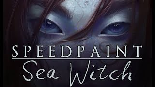 """[speed paint] Paint Tool SAI - """"SEA WITCH"""""""