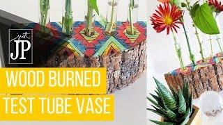 DIY Test Tube Bud Vase in a Wood Slice #handmadeholidays2015