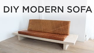 DIY Modern Sofa   How to make a sofa out of plywood
