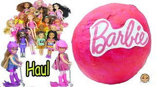 Giant Ball Doll HAUL Barbie Kid Sister Chelsea Dolls - Cookie Swirl C Toy Video