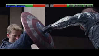 Captain America vs The Winter Soldier 1st Fight...with healthbars