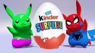 BABY HULK AND SPIDERMAN OPEN SURPRISE EGGS !!!
