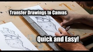 How to Transfer Your Sketch to Canvas - Justin Hillgrove - Imps and Monsters