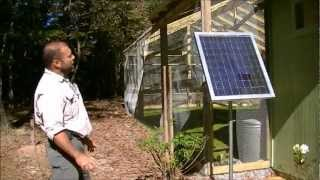 How to set up a solar power 12 volt light/charge controller/led