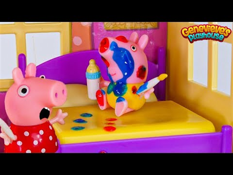 Toy Learning Video for Kids Peppa Pig Babysitting Baby Alexander