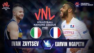 Ivan Zaytsev vs Earvin Ngapeth / VNL 2018 / france vs italy / men's Volleyball