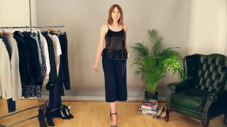 How to wear culottes for work, casual and party