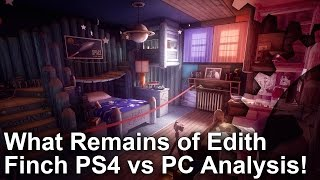 What Remains of Edith Finch PS4/Pro vs PC Graphics Comparison + Frame-Rate Test