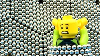 Playing with 8208 micro magnetic balls! (pt. 7, Fun with Lego 2)