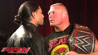 Roman Reigns and Brock Lesnar meet face to face: January 26, 2015