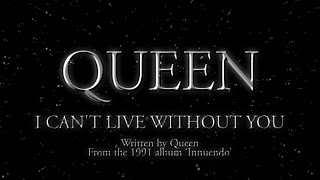 Queen - I Can't Live Without You - (Official Lyric Video)