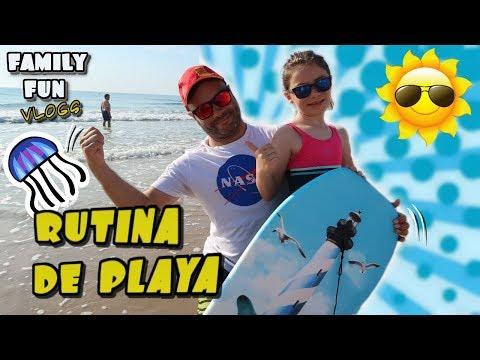 Rutina de playa en familia ⛱ 👪 Family Fun Vlogs