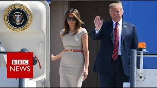US President Donald Trump arrives in the UK - BBC News