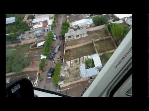 Helicóptero Halcón en enfrentamiento Agua Azul y Apaseo Balacera 20 min.