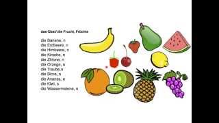 German vocabulary - Fruits & vegetables