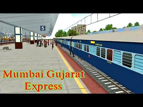 mumbai gujarat expess | indian train simulator