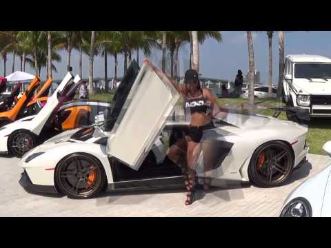 Hot Cars & Hot Girls Supercars Revving Paradise Festivals of Speed Miami 2015