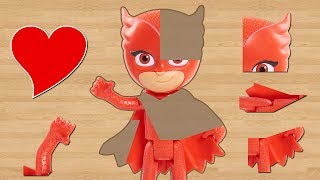 PJ Masks Puzzles, Owlette and Catboy Puzzles for Kids