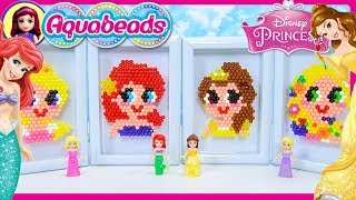 Disney Princess Aquabeads Portraits Craft Review Silly Play Kids Toys Rapunzel Ariel Belle Aurora