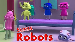 ★2 HOURS★ 5 Little Monkeys Jumping On The Bed || ROBO Version || Nursery Rhymes