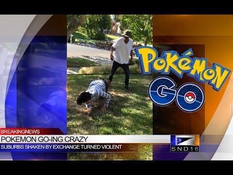 Pokemon Go Fight Caught on Camera!