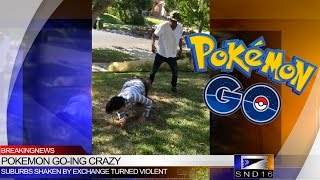 Pokemon Go Fight Caught on Camera!