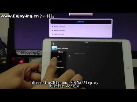 Wi-Fi Miracast dongle wireless Sharing adapter DLNA/Airplay/Mirroring how to set up and play