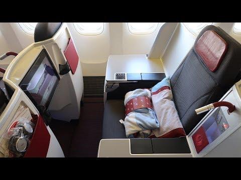 Austrian Airlines Boeing 777 Business Class Sri Lanka to Vienna my favorite European airline