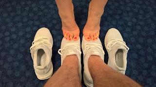 Footsie - Adidas Ultra Boosts and bare feet.