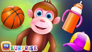 Surprise Eggs Nursery Rhymes Toys | Five Little Monkeys | Learn Colours & Objects | ChuChu TV