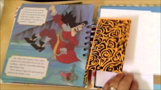 Peter Pan upcycled smash book