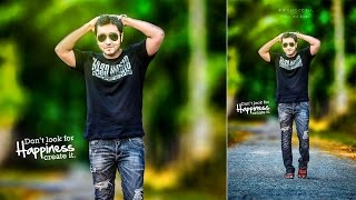 Photoshop Tutorial | How to Edit Outdoor Portrait | Background Mixing & Blur Effects