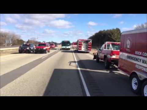 RAW VIDEO: Officials respond to chemical spill on I-90/39