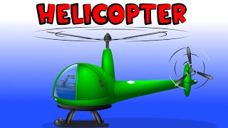 Helicopter | Cars Cartoon | Construction game| Educational video | Assembling Helicopter