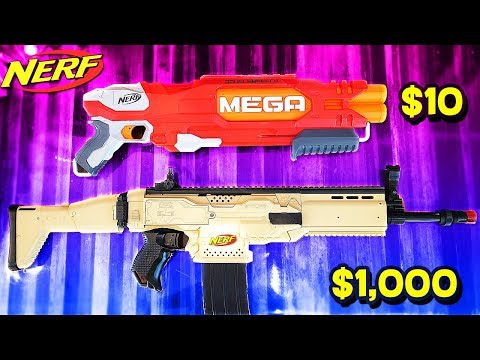 10 NERF GUN vs 1 000 NERF GUN OVERPOWERED