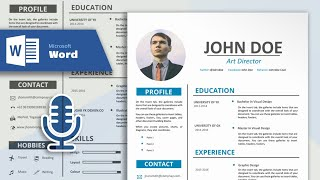 How to Create a Simple and Professional Resume in Microsoft Word | CV Design Tutorial (With Vocal)