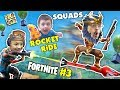 FORTNITE #3! FGTEEV Down with the Pew SQUAD + Funny Moments, Traps, Rocket Ride, Battle Royal Dances video download
