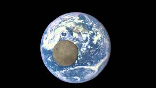 EPIC View of Moon Transiting the Earth