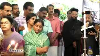 Funeral Thankamma Chacko Valiyaveettil Vadavathoor