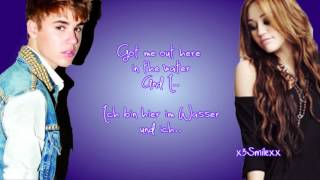 overboard justin bieber ft miley cyrus lyrics deutsche bersetzung