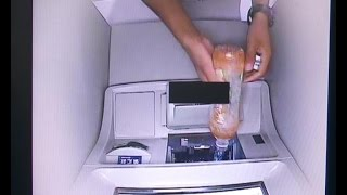 Man pours beverages into ATMs to steal cash