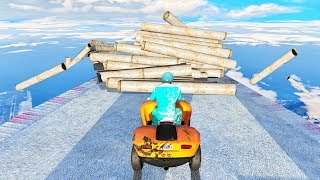 IMPOSSIBLE DOWN HILL OBSTACLE COURSE! (GTA 5 Race)
