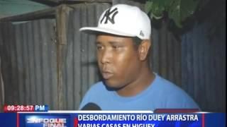 Desbordamiento río Duey arrastra varias casas en Higüey