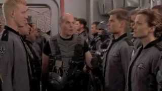 Starship Troopers: meet the Roughnecks scene