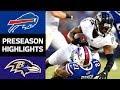 Bills vs. Ravens | NFL Preseason Week 3 Game Highlights