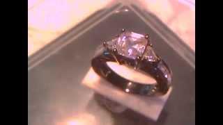 10k Black Gold Filled Pink Sapphire Ring