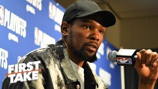 'That's garbage!' – Stephen A. on the media's treatment of Kevin Durant | First Take