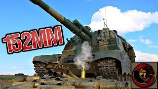 """Russian  2S19 """"Msta-S"""" Self Propelled Gun - MASSIVE ARTILLERY"""