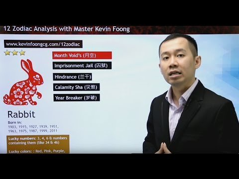 2017 Rabbit Prediction 12 Chinese Zodiac by Master Kevin Foong